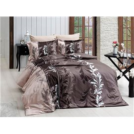 КПБ FirstChoice Cotton Satin  Eylul kahve