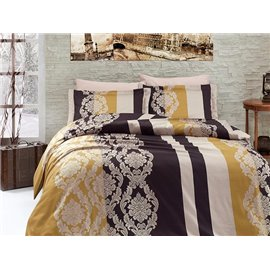 КПБ FirstChoice Cotton Satin  Kavin gold