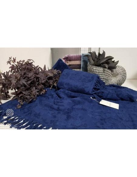 Простынь-покрывало махровая Maison Dor Sanda (синий)