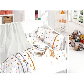 КПБ FirstChoice Baby Soft Pike Set Stork oranj