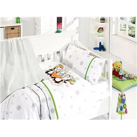 КПБ FirstChoice Baby Soft Pike Set Penguins yesil