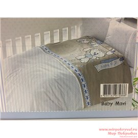 КПБ FirstChoice Baby Soft Pike Set Baby mavi