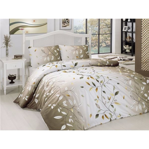 КПБ FirstChoice Polycotton Leaf kahve
