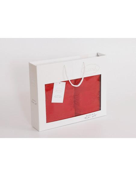 Комплект махровых полотенец Karna REBEKA красный