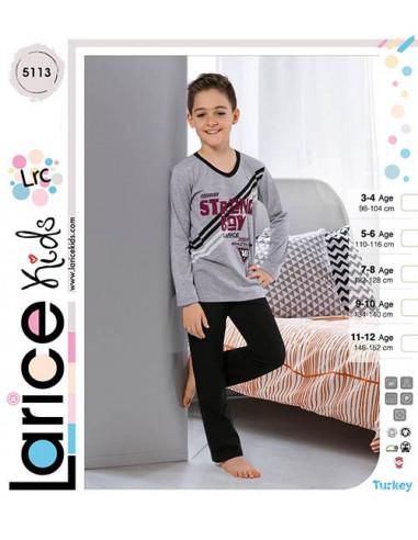 Пижама для мальчика теплая LariceKids (5113)